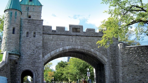 Arched sentry gate in Quebec City