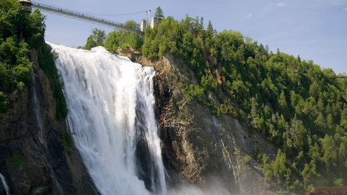 Montmorency Falls are Quebec's highest waterfalls at 275 feet tall