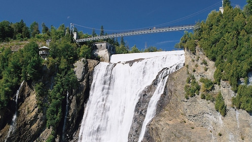 Montmorency Falls cascade down the 275 foot landscape