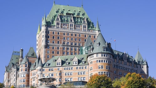 Chateau Frontenac towers over Quebec City