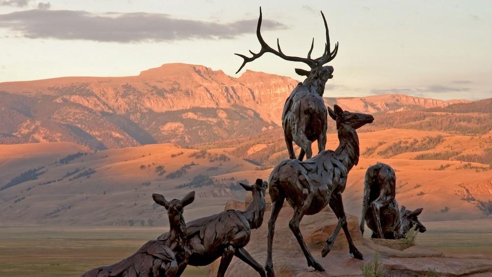 Show item 1 of 7. Beautiful artwork of deer at the National Museum of Wildlife Art