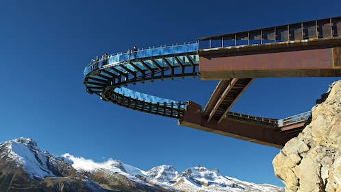 Glacier Skywalk features a glass floored walkway with panoramic views of the mountains