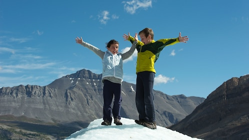 Children playing in the Columbia Icefields