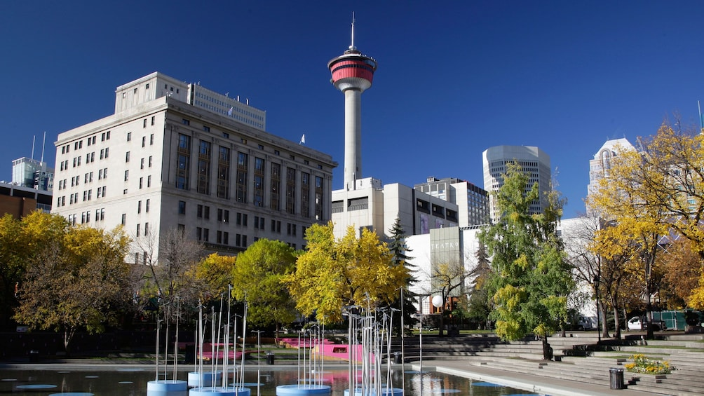 Show item 5 of 5. Calgary tower and the city skyline
