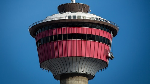 Closeup of the Calgary Tower