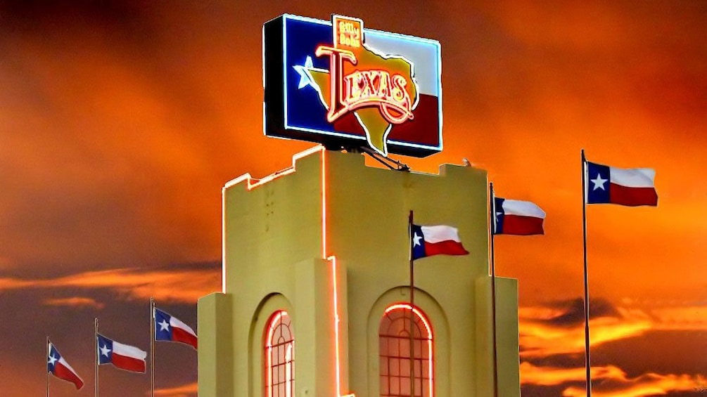 Show item 4 of 4. Brightly lit sign at the Billy Bob's Texas in Dallas