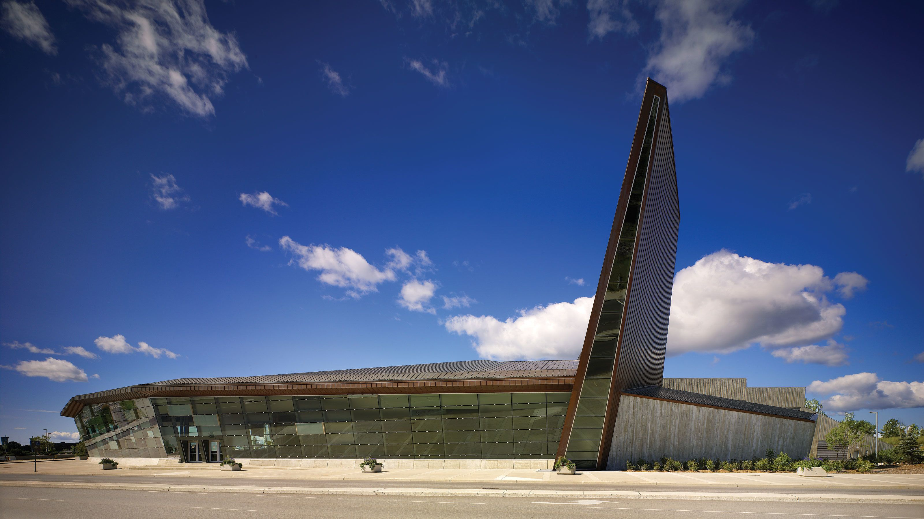 Exterior of the Canadian War Museum in Ottawa