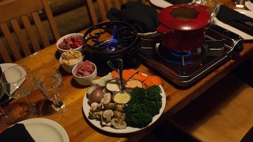 Fondue dinner in Whistler