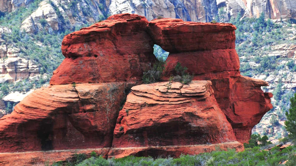 Red rock arch formation in Sedona, Arizona