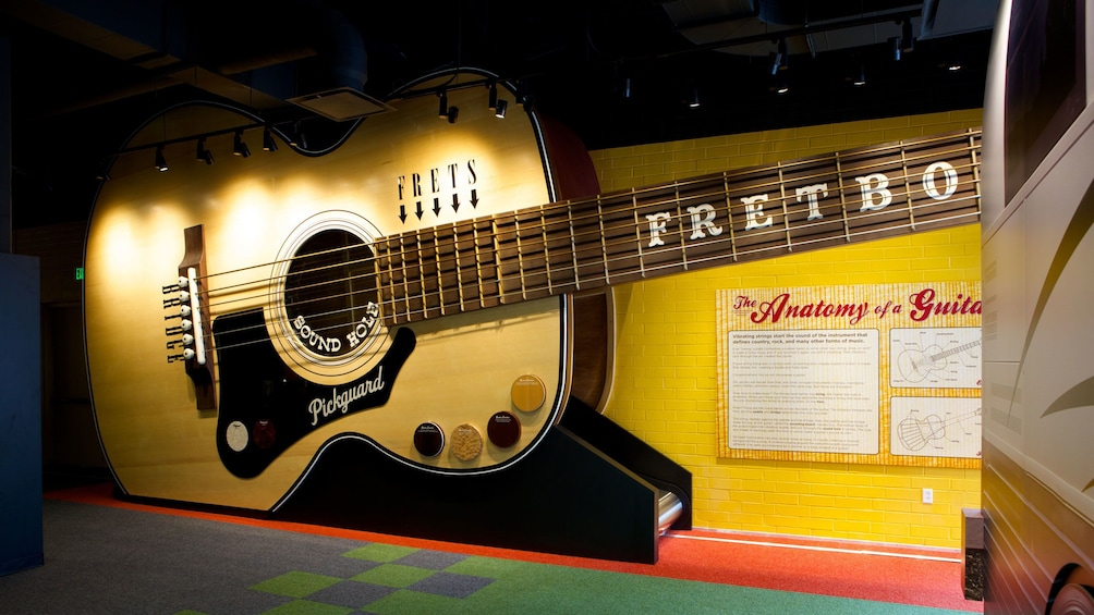 Show item 1 of 8. Giant guitar display at the Country Music Hall of Fame in Nashville