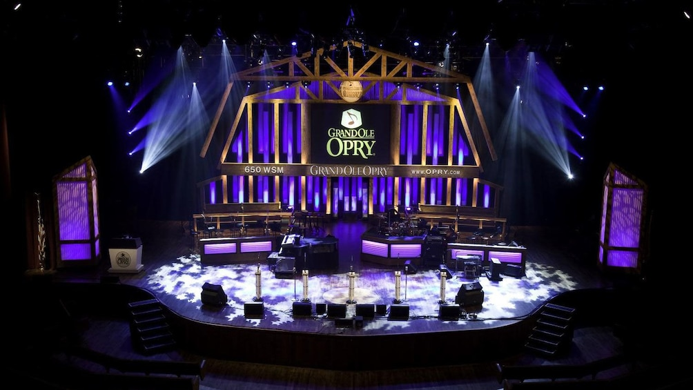 Show item 5 of 5. Stage lighting inside the Grand Ole Opry House in Nashville