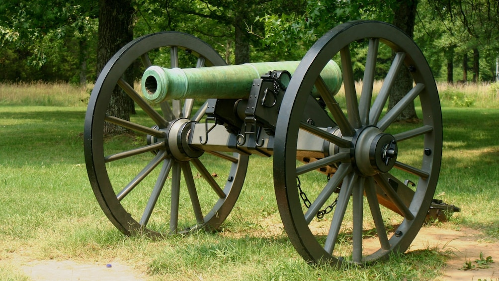 Show item 3 of 8. Civil War cannon in Nashville