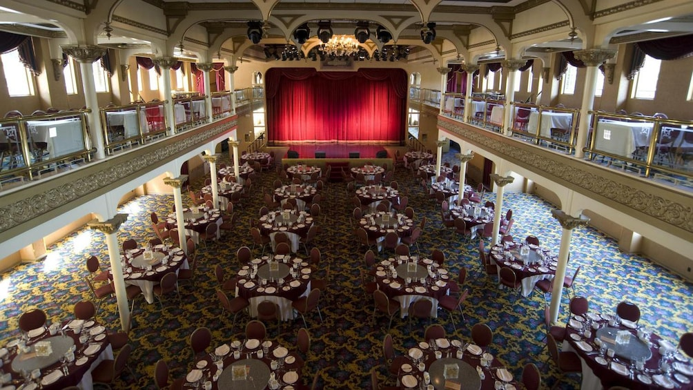 Show item 5 of 5. Performance stage at the dining area aboard the General Jackson Showboat in Nashville