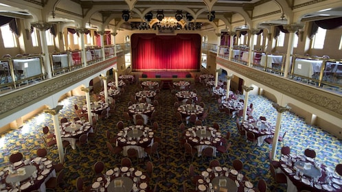 Performance stage at the dining area aboard the General Jackson Showboat in Nashville