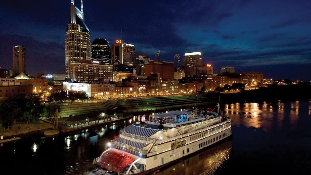 Show item 1 of 5. The General Jackson Showboat at night in Nashville