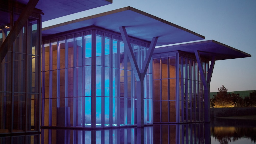 Show item 2 of 5. Illuminated space at the Modern Art Museum of Fort Worth in Dallas