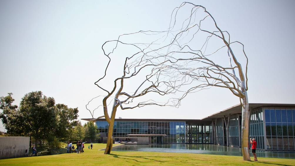 Show item 1 of 5. Outdoor sculpture at the Modern Art Museum of Fort Worth in Dallas