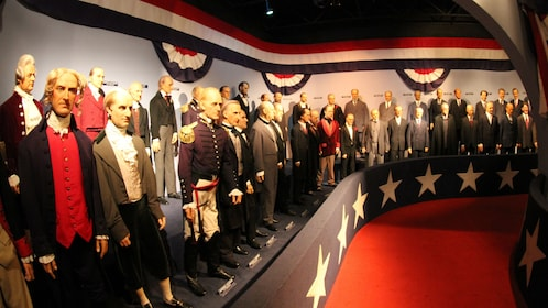 Figures of historic American figures at the Ripley's Believe It or Not Odditorium in Dallas