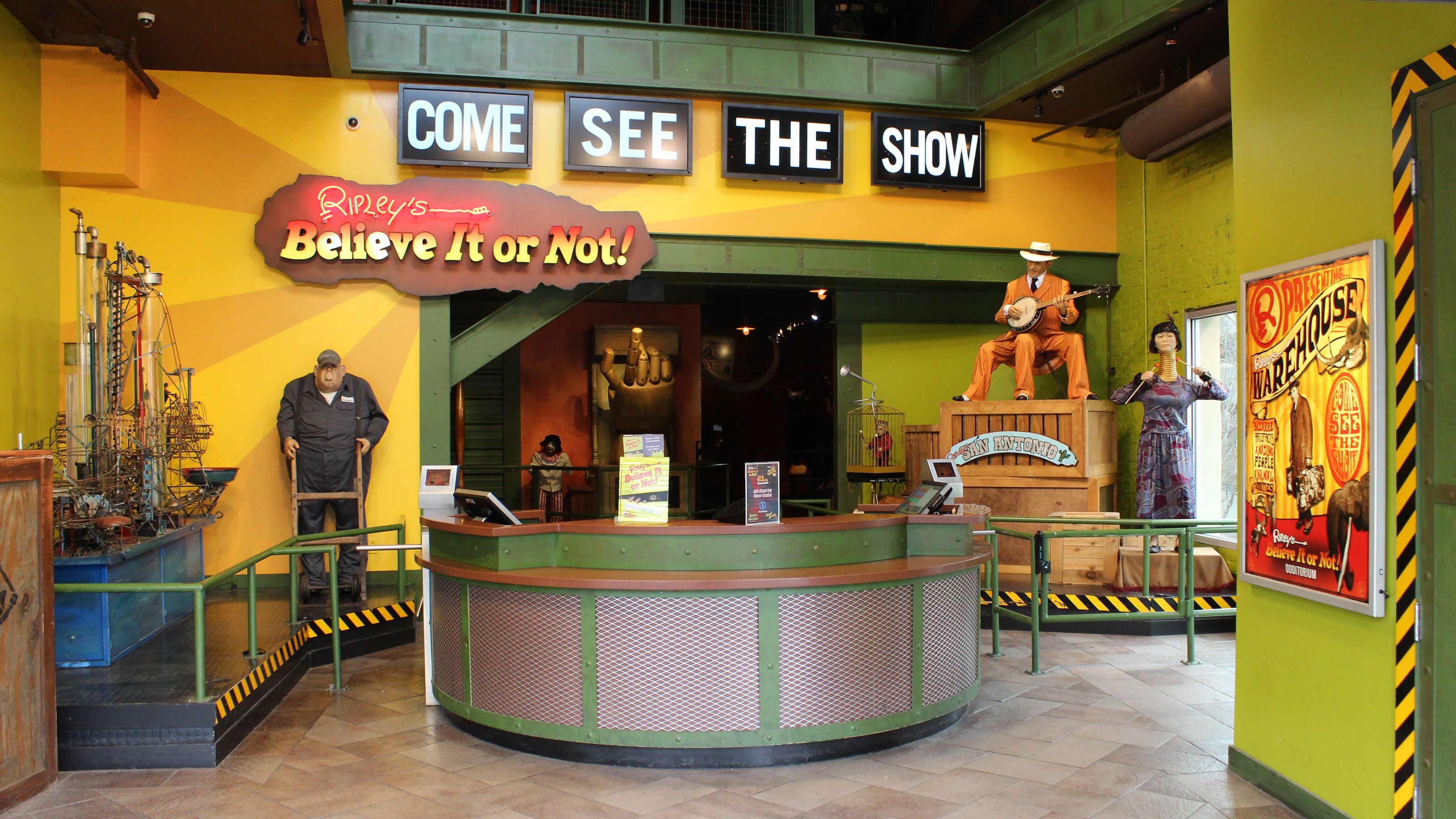 Ticket counter to Ripley's Believe It or Not! in San Antonio, Texas