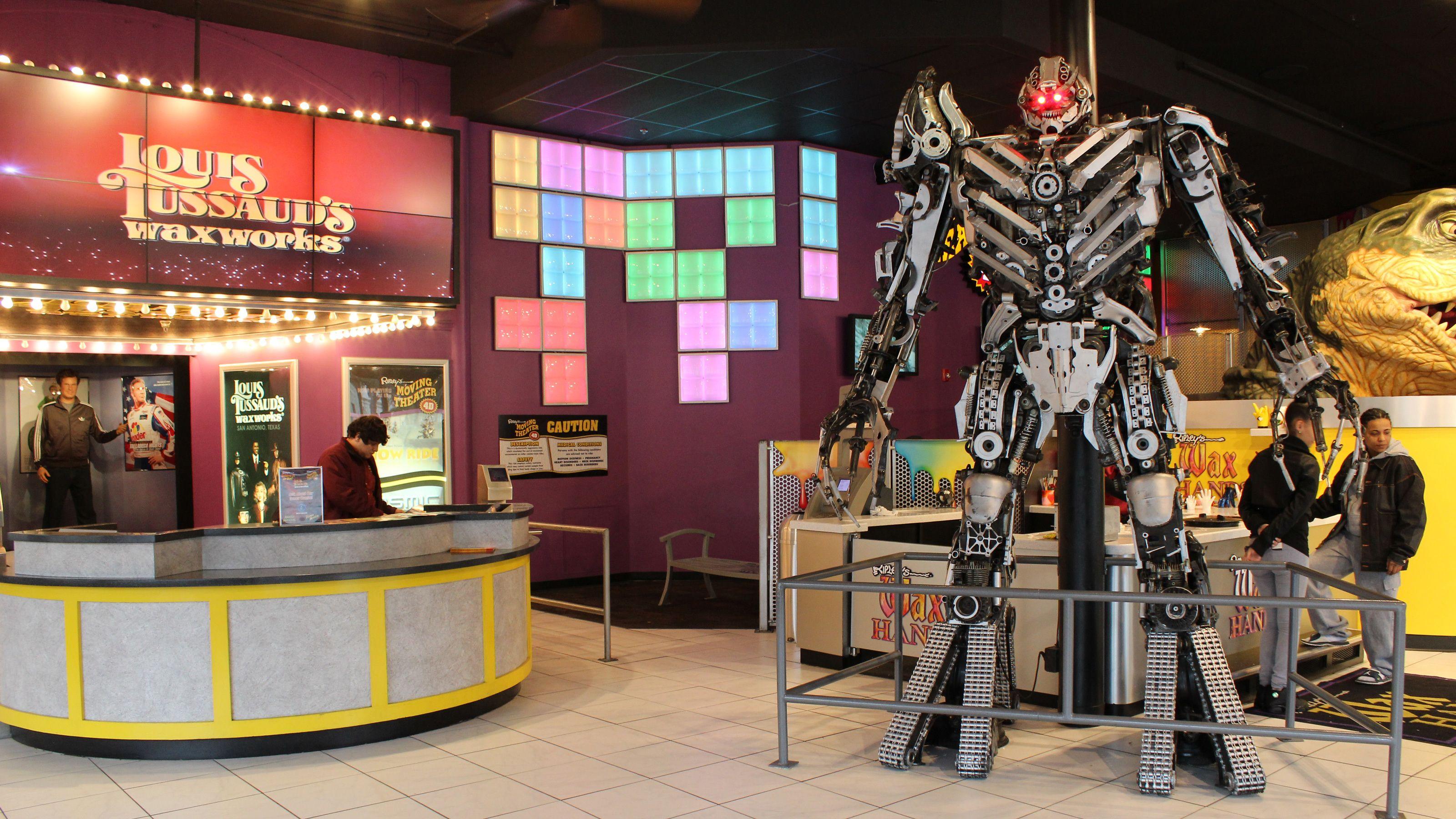 Megatron transformer exhibit in San Antonio