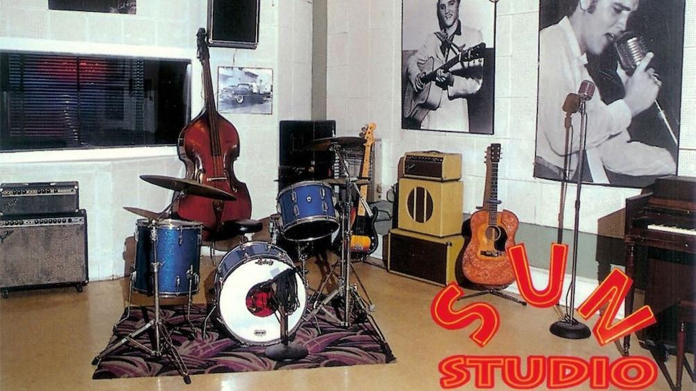 Inside sun studio in Memphis