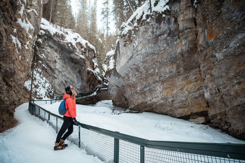 Show item 5 of 9. Discover Banff: Johnston Canyon Icewalk Tour