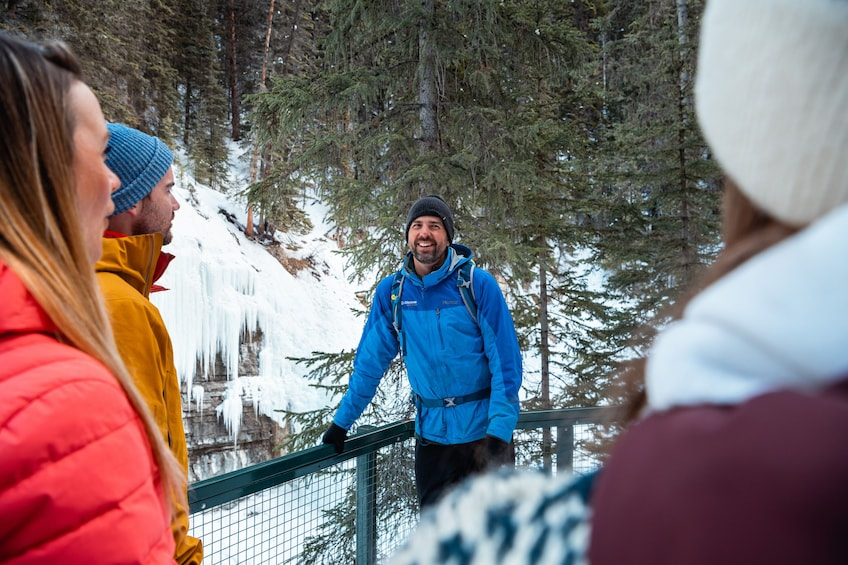 Show item 4 of 9. Discover Banff: Johnston Canyon Icewalk Tour
