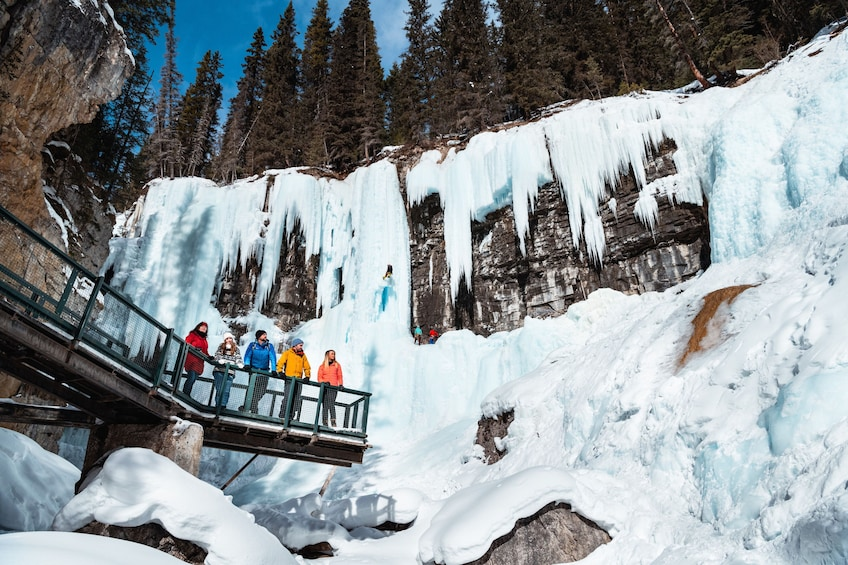 Show item 3 of 9. Discover Banff: Johnston Canyon Icewalk Tour