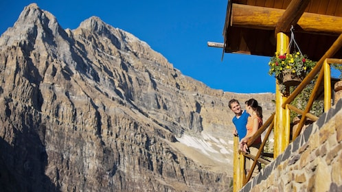 Lake Agnes Tea House offers panoramic views of the Canadian Rockies