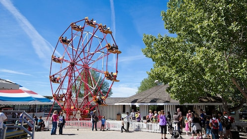 carnival rides at the Heritage Park Historical Village in Calgary