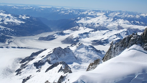 Breathtaking aerial views of the mountains in British Columbia