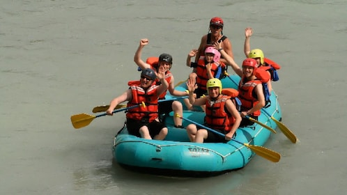 Group rafting on the Athabasca River