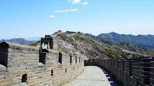 The Great Wall at higher altitude in China