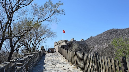 Crumbled tower at the Great Wall in China