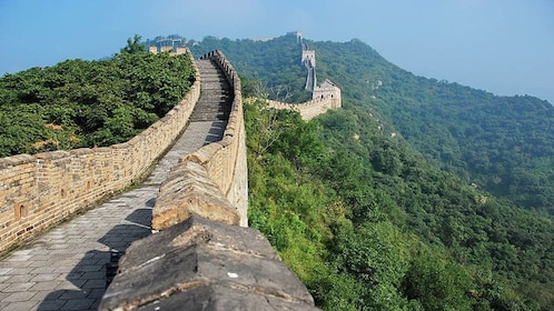 The Great Wall stretching across the landscape in China