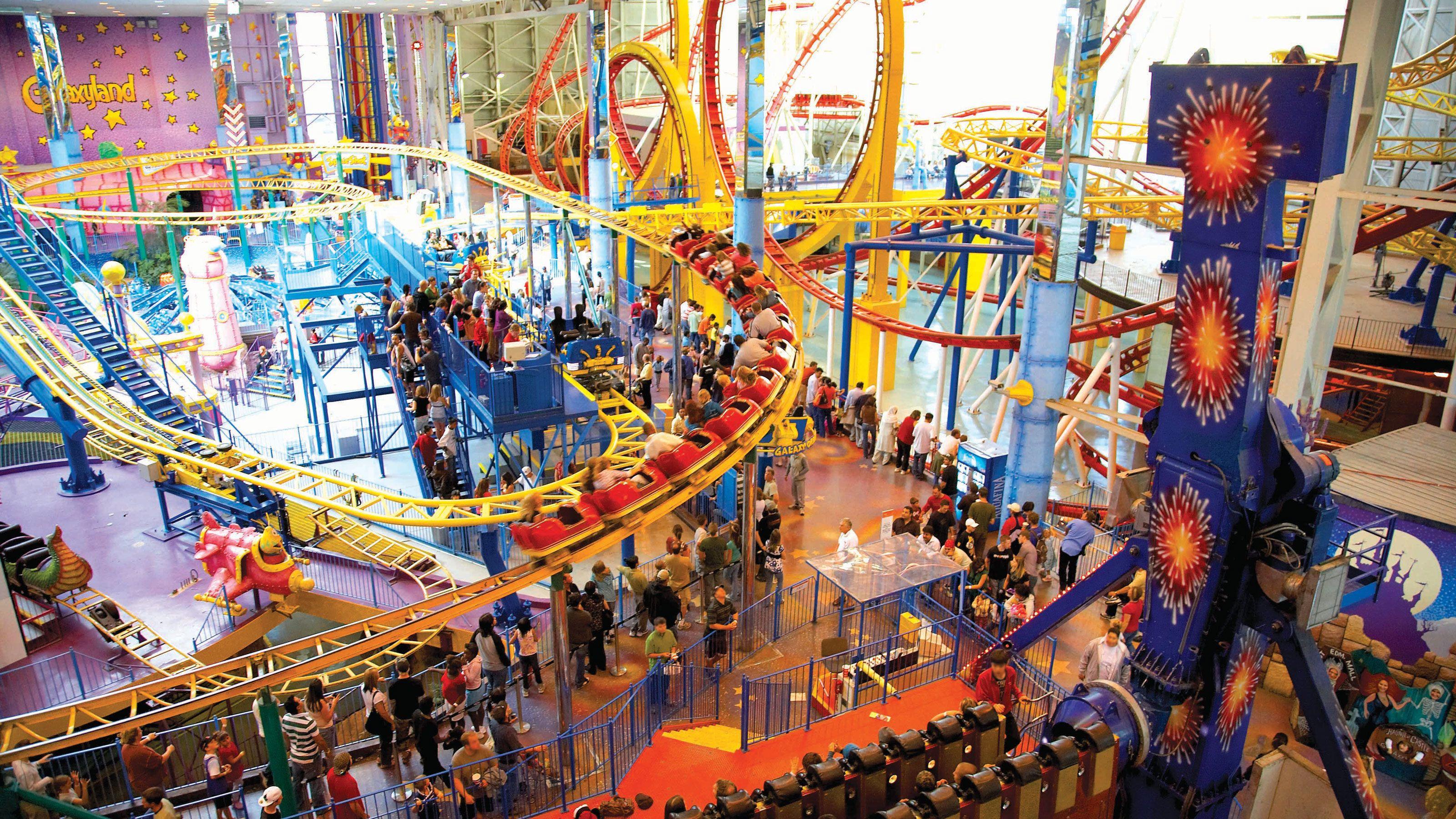 Small indoor roller coasters in Edmonton