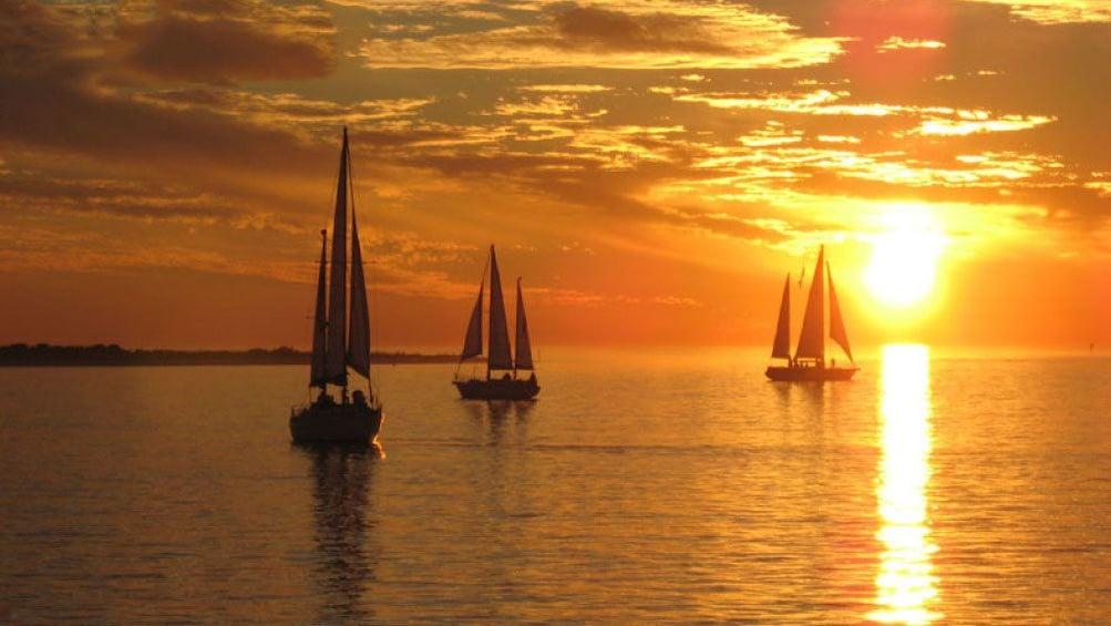 Show item 1 of 9. Sunset over Boca Ciega Bay in Tampa Bay, Florida