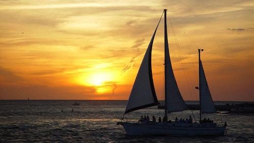 Sunset over Boca Ciega Bay in Tampa Bay, Florida