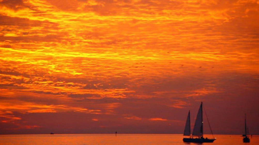 Show item 2 of 9. Sunset over Boca Ciega Bay in Tampa Bay, Florida