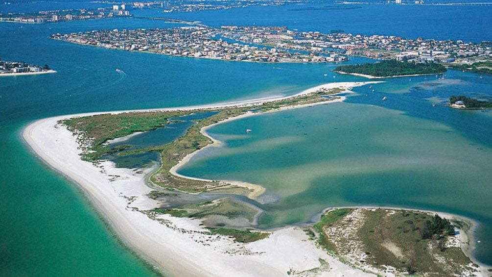 Show item 1 of 8. Shell Key Island bird's eye view