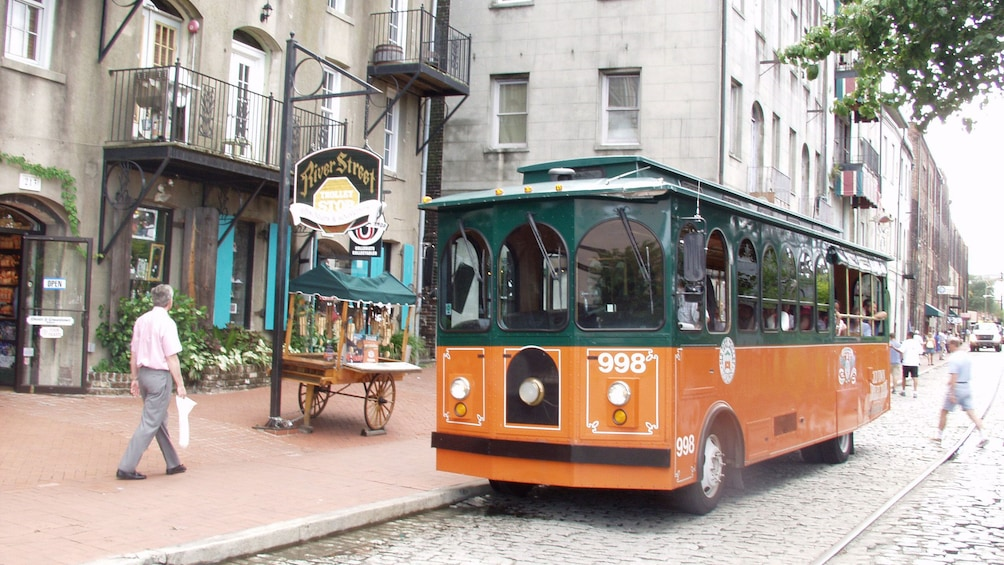 Show item 5 of 10. Pitstop for the old town trolley in Savannah