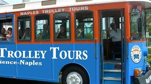Blue Naples trolley