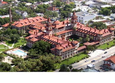 Aerial view of St Augustine in Florida