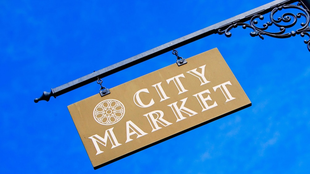 Show item 3 of 5. City Market sign in Savannah