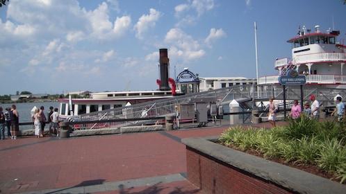 Steamboat docked in Savannah, Georgia