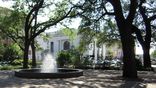 Water fountain in one of Savannah's public parks