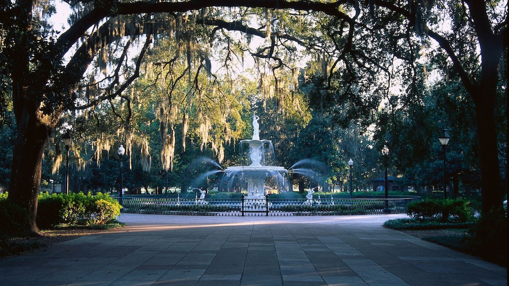 Show item 3 of 5. Public water fountain in Savannah
