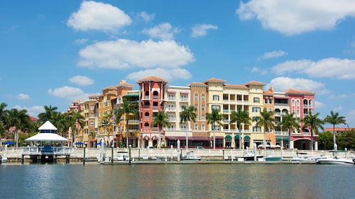 Pastel colored buildings in Naples