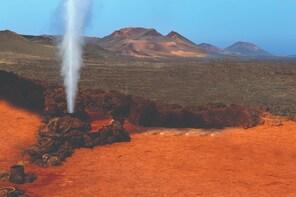 Volcanoes and Timanfaya National Park from Fuerteventura