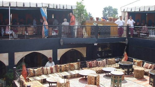 Outside lounge at a restaurant in Marrakech